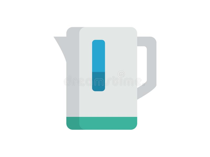 Symbole de signe d'icône de vecteur de bouilloire illustration stock