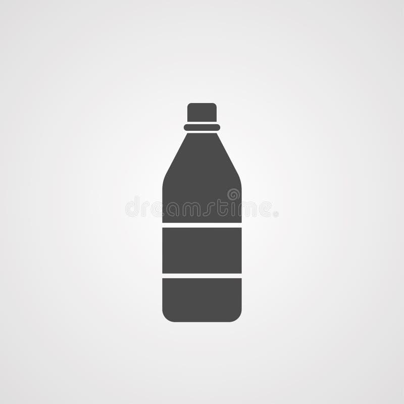 Symbole de signe d'icône de vecteur de bouteille d'eau illustration libre de droits