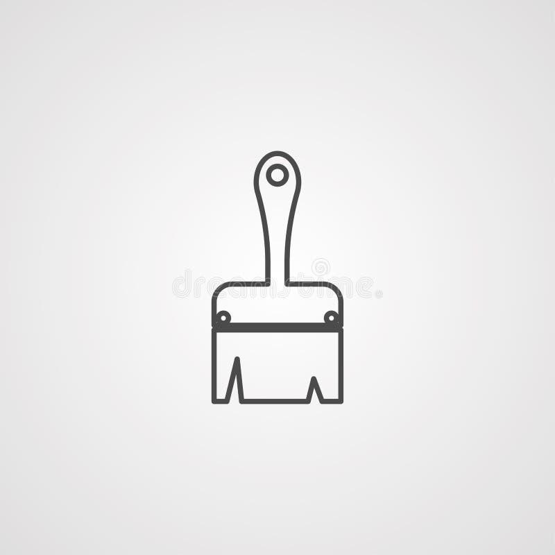 Symbole de signe d'icône de vecteur de brosse illustration de vecteur