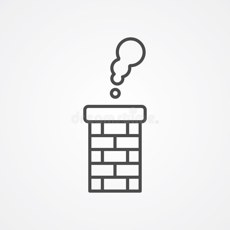 Symbole de signe d'icône de vecteur de cheminée illustration de vecteur