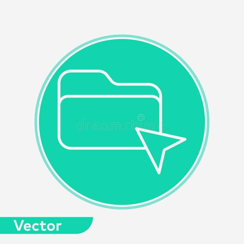 Symbole de signe d'icône de vecteur de dossier de clic illustration libre de droits