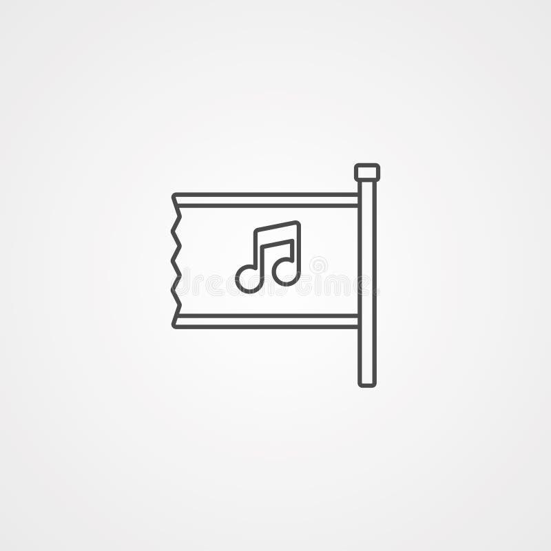Symbole de signe d'icône de vecteur de drapeau illustration libre de droits