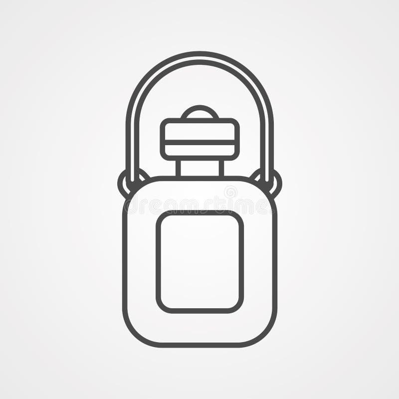 Symbole de signe d'icône de vecteur de flacon de camping illustration libre de droits
