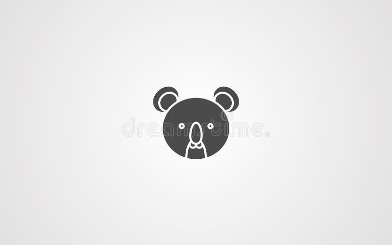 Symbole de signe d'icône de vecteur de koala illustration stock