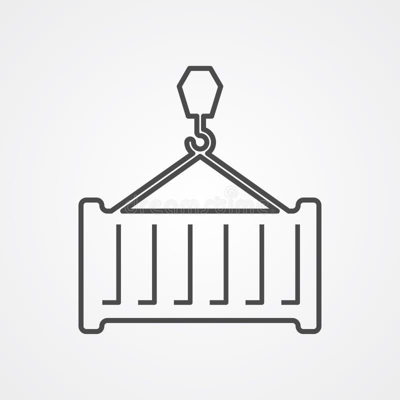 Symbole de signe d'icône de vecteur de récipient illustration de vecteur