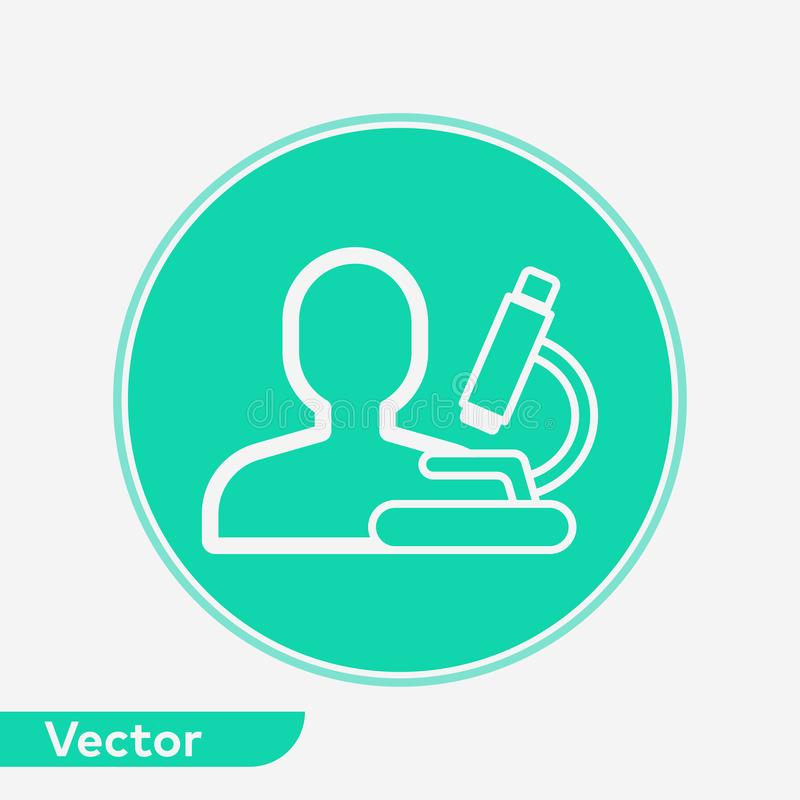 Symbole de signe d'icône de vecteur de scientifique illustration stock