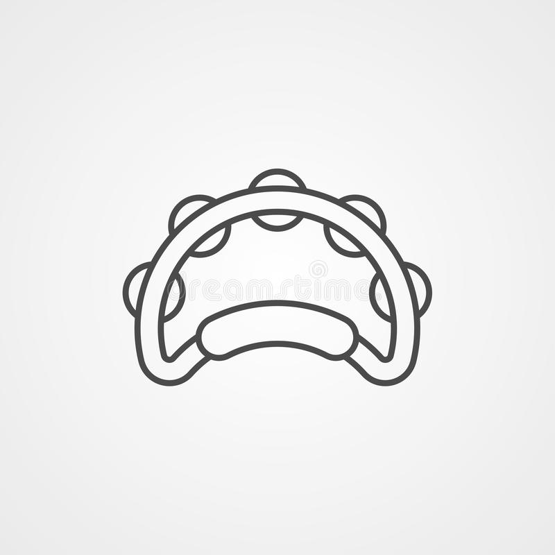 Symbole de signe d'icône de vecteur de tambour de basque illustration de vecteur