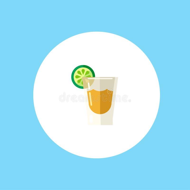 Symbole de signe d'icône de vecteur de tir de tequila illustration de vecteur
