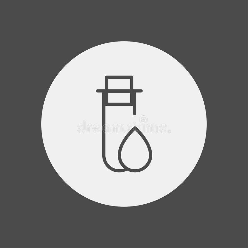 Symbole de signe d'icône de vecteur de tube à essai illustration libre de droits