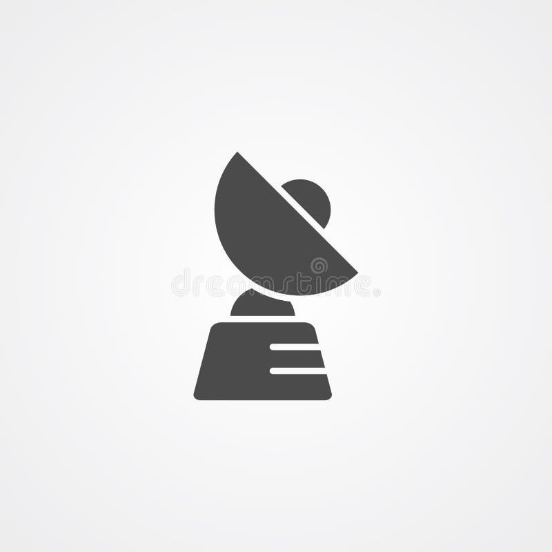 Symbole de signe d'ic?ne de vecteur d'antenne parabolique illustration stock