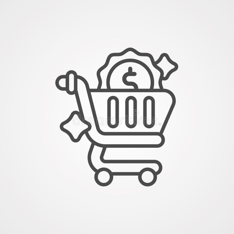 Symbole de signe d'ic?ne de vecteur de caddie illustration de vecteur