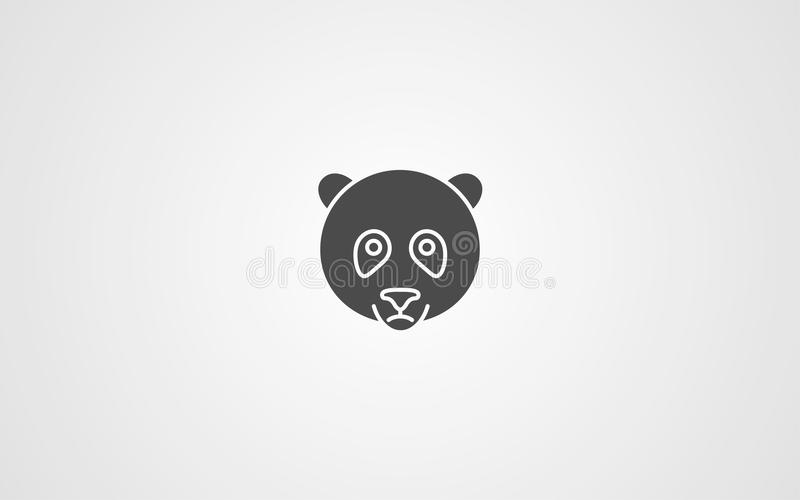 Symbole de signe d'icno de vecteur de panda illustration libre de droits