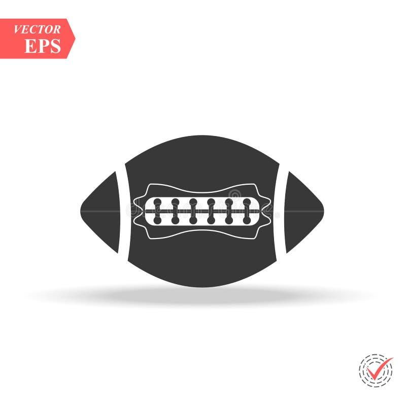 Symbole de signe d'isolement par illustration d'icône de football américain illustration stock