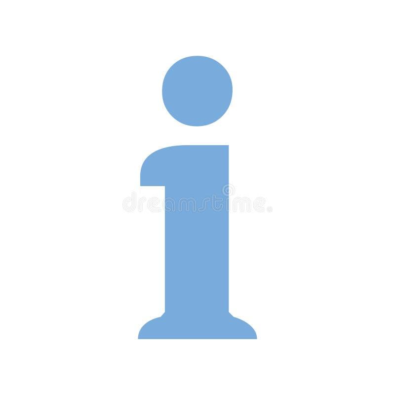 Symbole de signe de l'information, icône d'infos d'isolement Symbole de service SVP ou signe de concept de FAQ Infos d'icône de f illustration libre de droits
