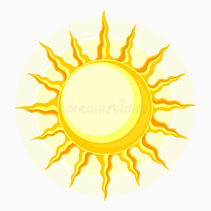 Symbole de Sun sur le blanc illustration libre de droits