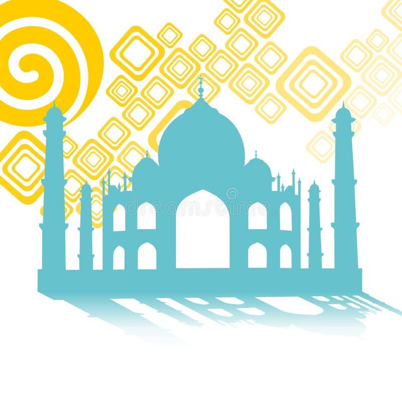 Symbole de Taj Mahal vers l'Inde images stock