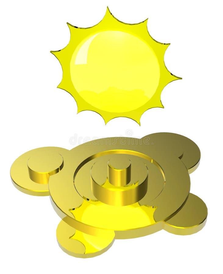 Symbole de temps de Sun illustration stock