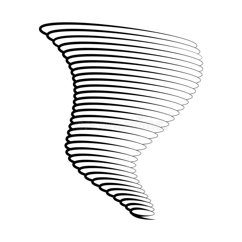 Symbole de tornade d'isolement sur un fond blanc illustration stock