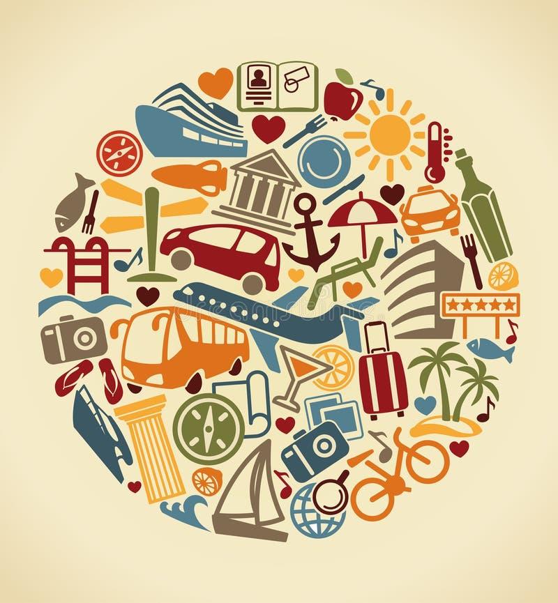 Symbole de tourisme Illustration de vecteur illustration de vecteur