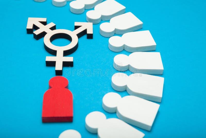 Symbole de transsexuel, activisme d'intersex Femme de transport image stock