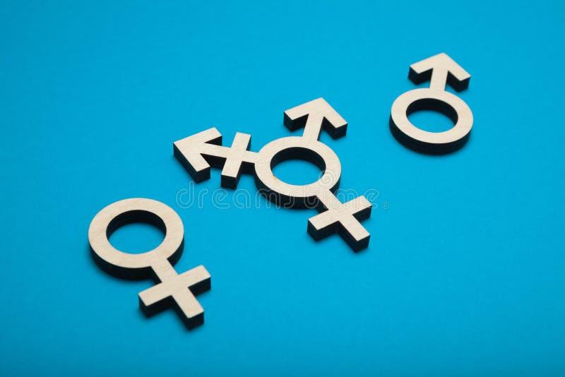 Symbole de transsexuel, activisme d'intersex Femme de transport photo stock