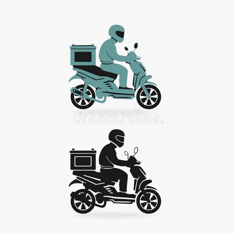 Symbole de vecteur de la livraison de scooter illustration de vecteur