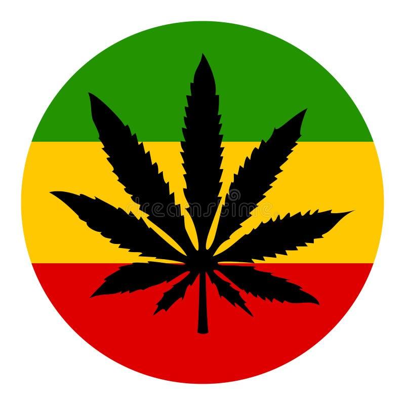 Symbole de vecteur de marijuana illustration stock