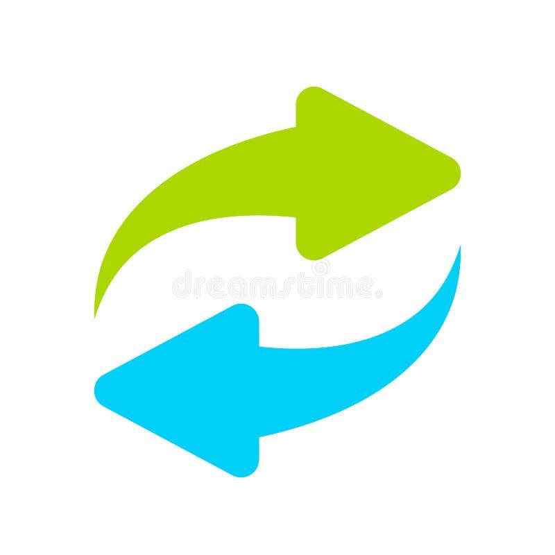 Symbole de vecteur de recharge illustration stock