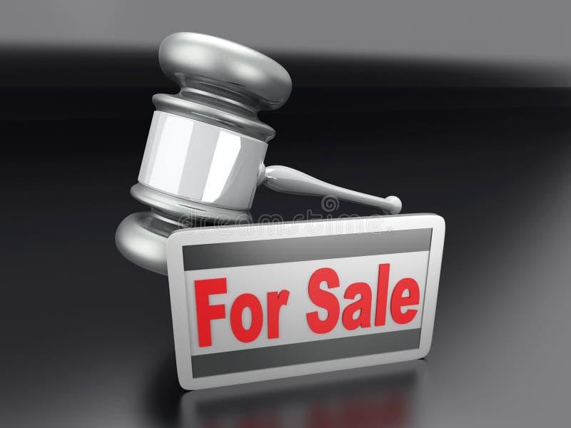 Vente de vente aux enchères illustration libre de droits
