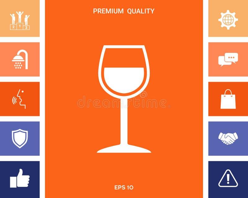 Symbole de verre à vin illustration stock
