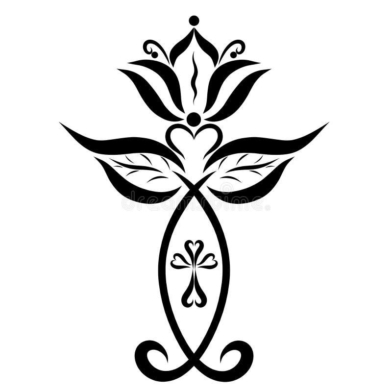Symbole de victoire sur le péché et symbole de la vie éternelle illustration de vecteur