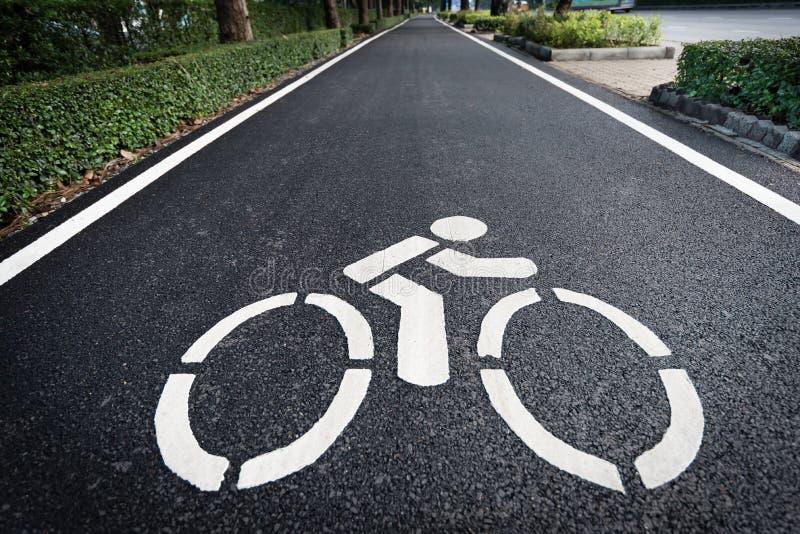 Symbole de voie pour bicyclettes photos libres de droits