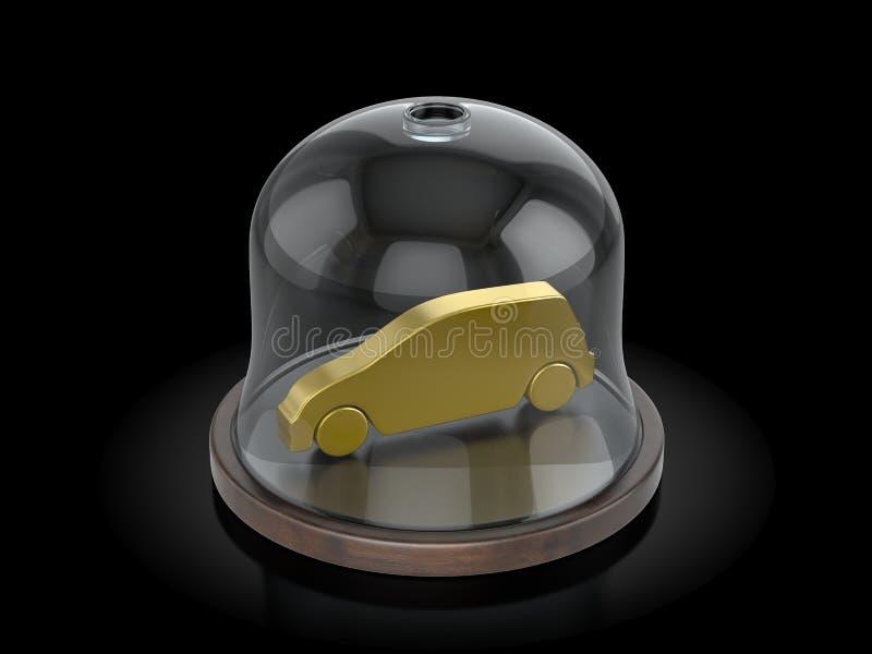 Symbole de voiture sous le dôme illustration de vecteur