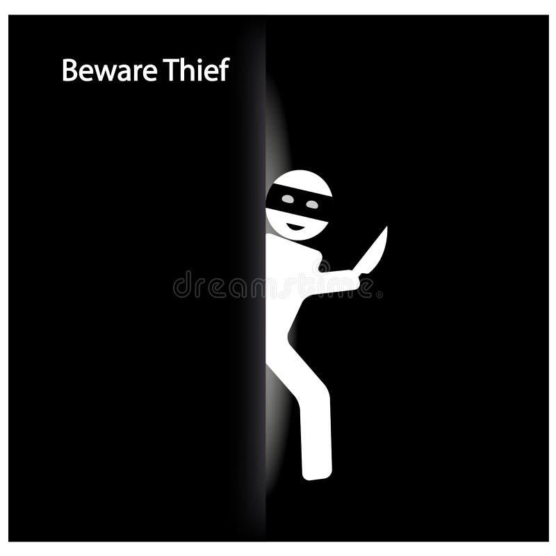 Symbole de voleur illustration stock