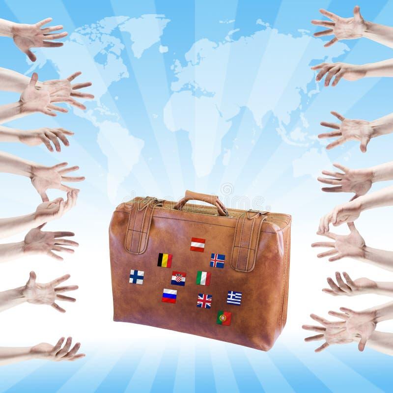 Symbole de voyage et de récréation. image libre de droits
