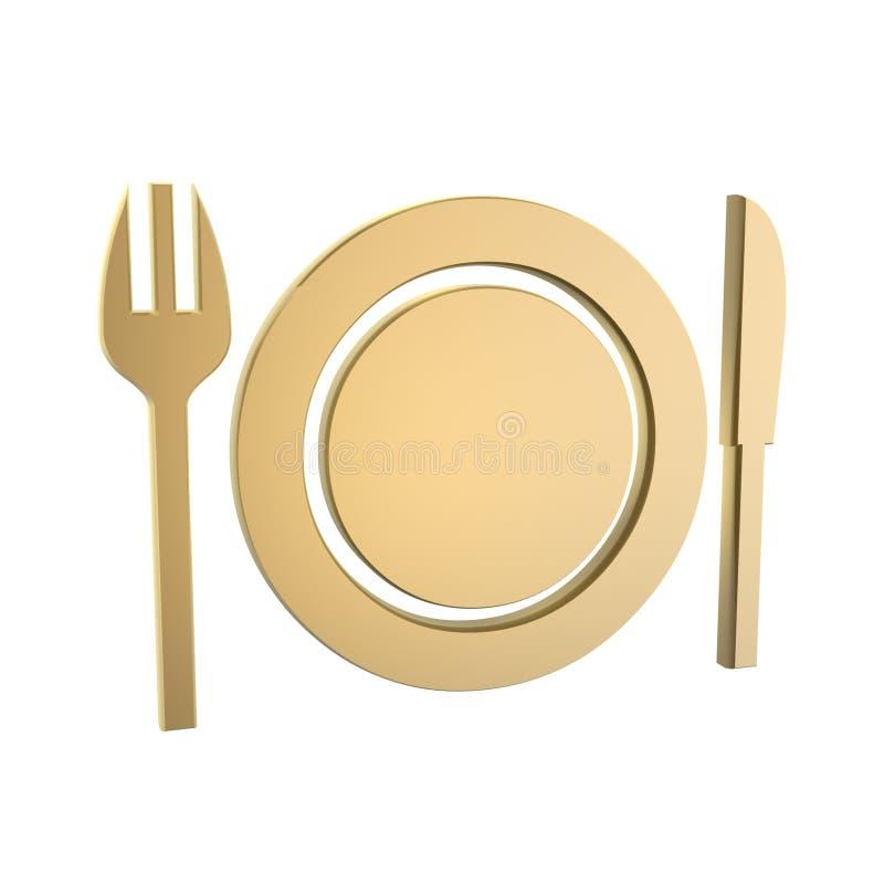Symbole de wagon-restaurant illustration stock