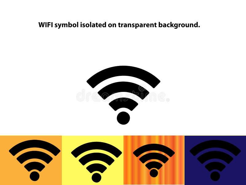 Symbole de Wifi d'isolement sur le fond transparent photographie stock