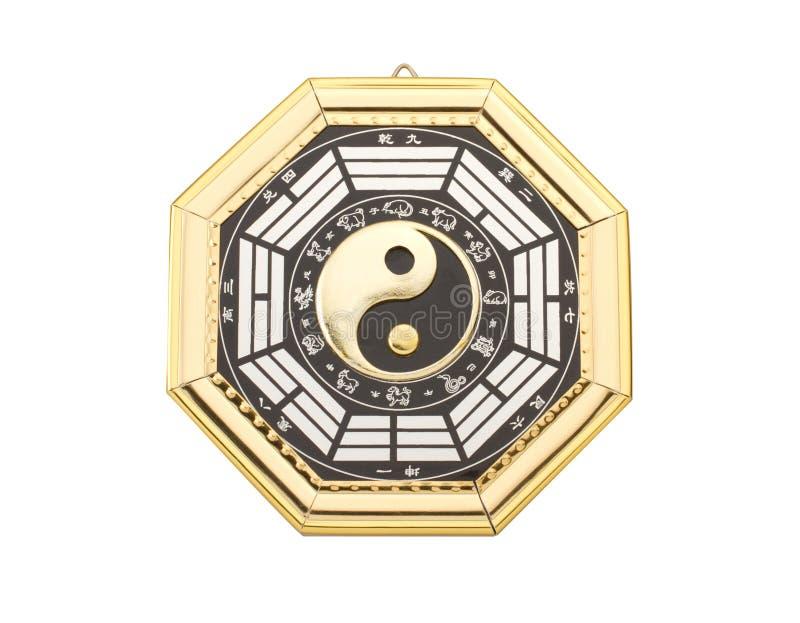 Symbole de yang de Yin photographie stock