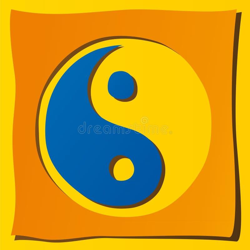 Symbole de Ying yang illustration de vecteur