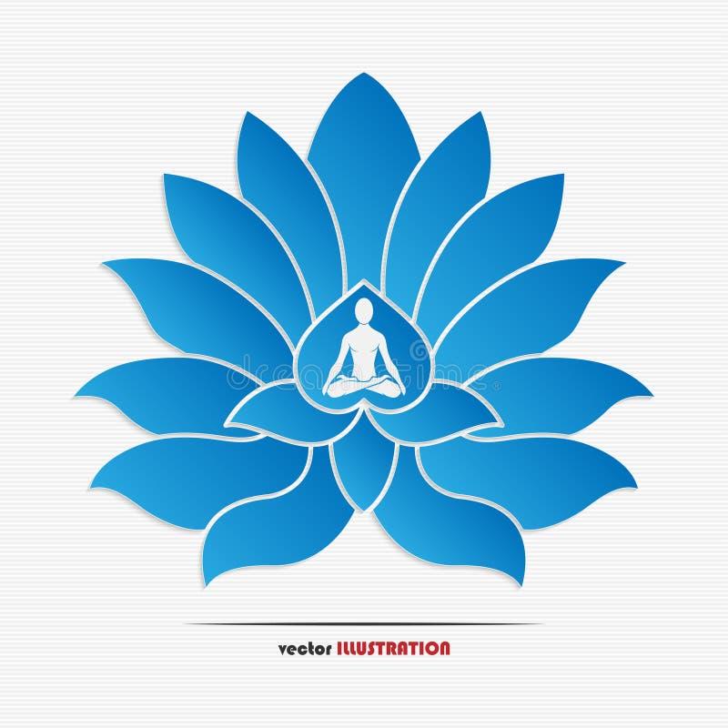 Symbole de yoga illustration de vecteur