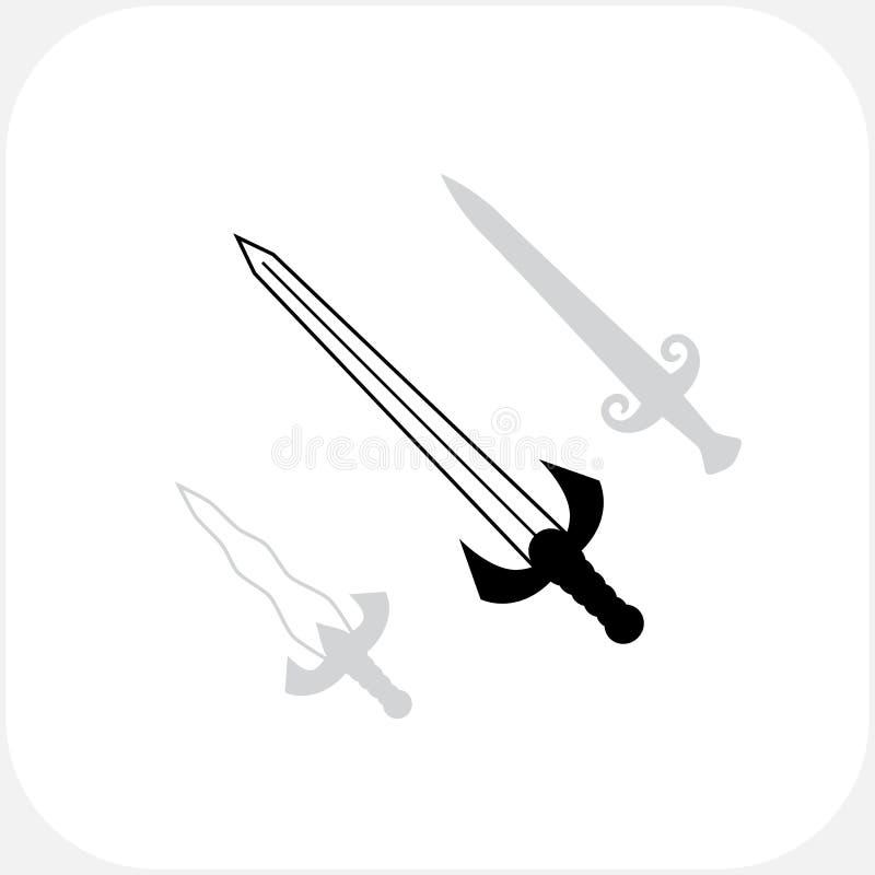 Symbole der Messer-scharfen Klingen stock abbildung