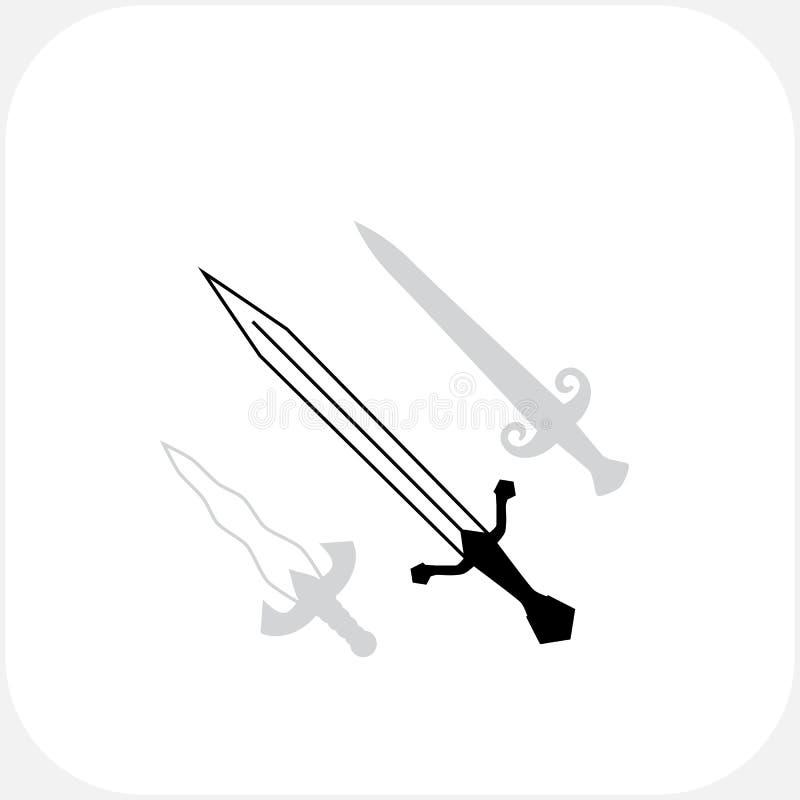 Symbole der Messer-scharfen Klingen lizenzfreie abbildung