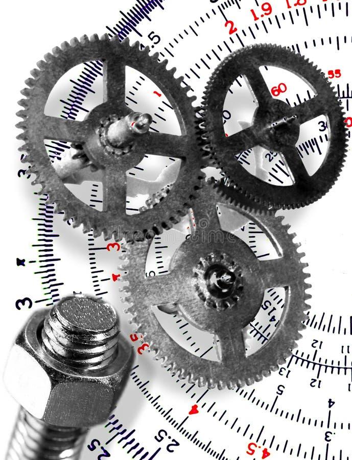 Symbole der Technik und des Konzipierens stock abbildung
