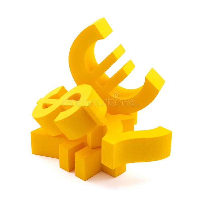 Symbole des Bargeldes lizenzfreies stockfoto
