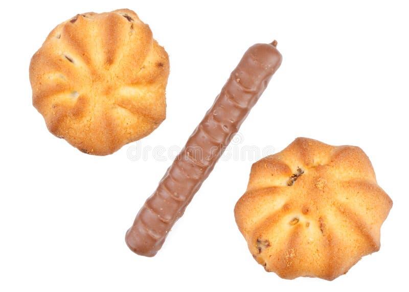 Symbole des pour cent des biscuits photo libre de droits
