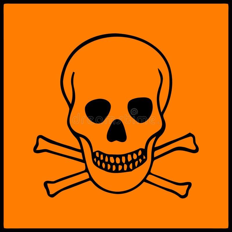 Symbole des présents de risque sur les produits dangereux illustration libre de droits