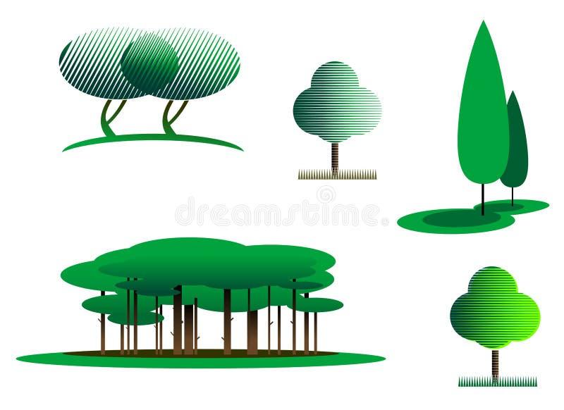 symbole drzewni ilustracji