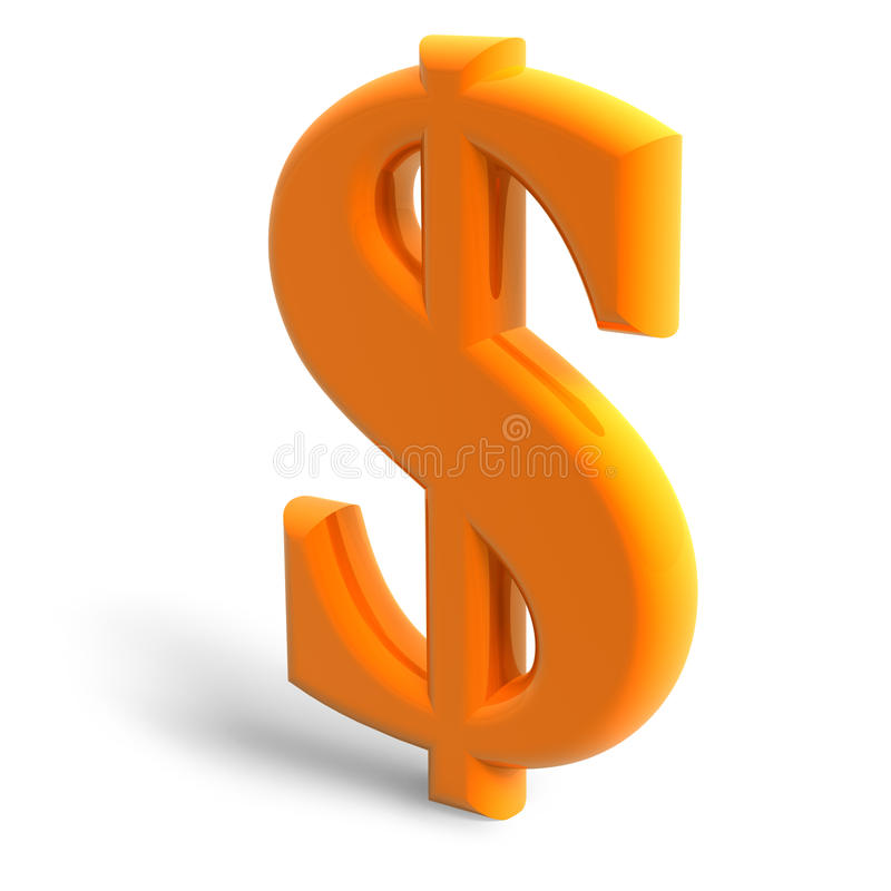 Symbole du dollar illustration libre de droits