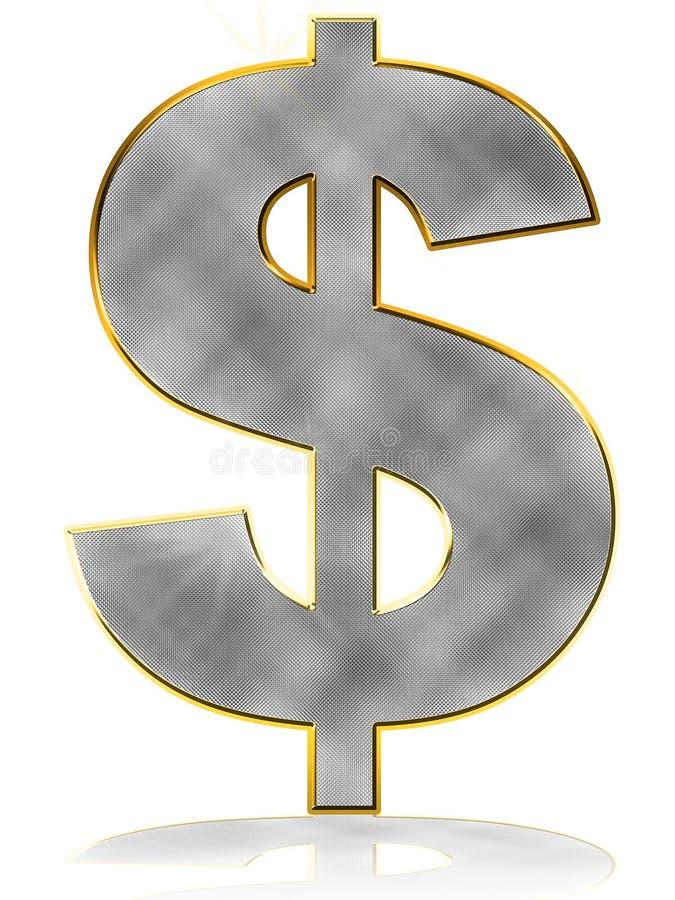 Symbole du dollar de Bling illustration stock