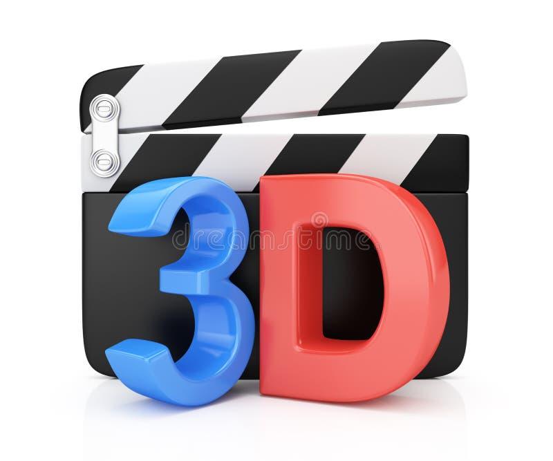 symbole du film 3D illustration stock